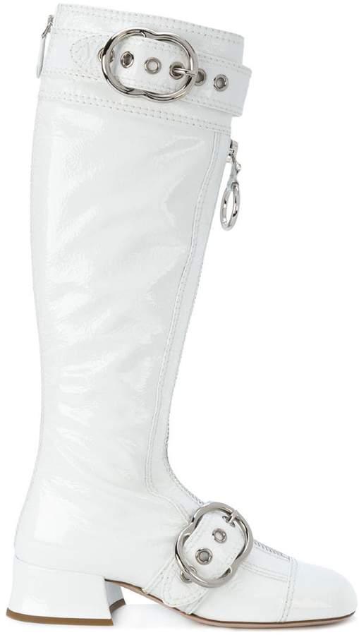 Miu Miu buckle strap boots