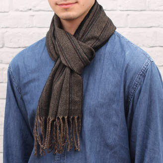 Hurleyburley man Personalised Soft And Warm Men's Stripe Scarf