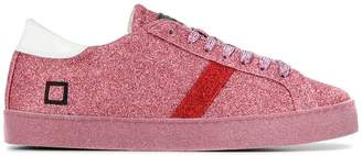 D.A.T.E lace-up glitter sneakers