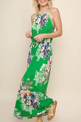 Umgee USA Green Floral Maxi