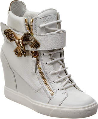 Giuseppe Zanotti Leather Wedge High-Top Sneaker
