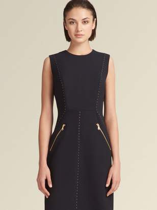 DKNY Sleeveless Sheath Dress With Button Trim