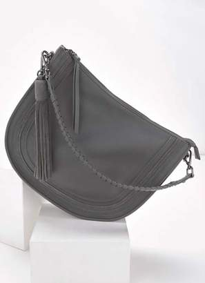 Mint Velvet Tina Charcoal Leather Hobo Bag