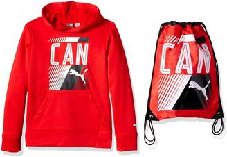 Puma Big Boys' Canada Olympic Hoodie and Carry Sack