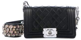 Chanel Paris-Bombay Galuchat Small Boy Bag Black Paris-Bombay Galuchat Small Boy Bag