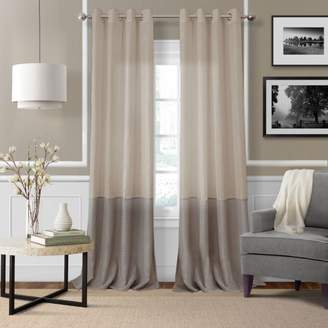 """Elrene Home Fashions Melody Sheer Colorblock Window Panel, 52"""" x 95"""""""