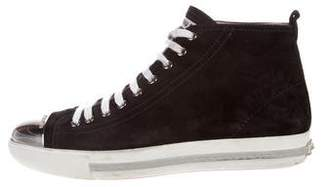 Miu Miu Suede Cap-Toe Sneakers