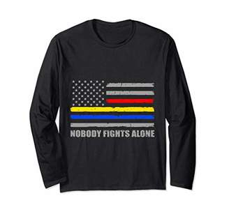 Thin Yellow Line Thin Red Line Thin Line Long Sleeve T-Shirt
