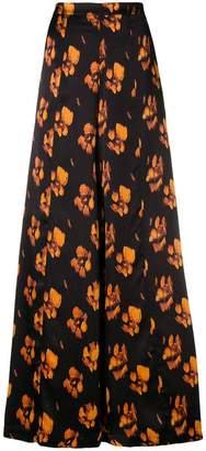 L'Autre Chose floral wide leg trousers