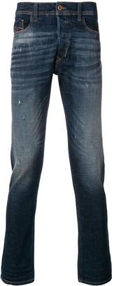 Diesel distressed slim fit jeans