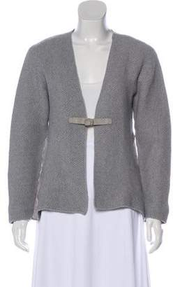 Fabiana Filippi Cashmere Structured Cardigan Grey Cashmere Structured Cardigan