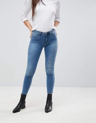 Only Skinny Jeans With Raw Hem