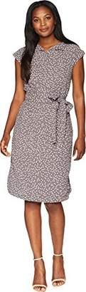 Anne Klein Women's Open Collar Shirt Dress