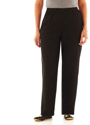 Alfred Dunner Black Denim Pants - Plus