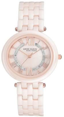 Anne Klein NEW YORK Women's Ceramic Bracelet Watch, 34mm