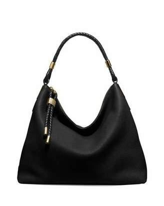 Michael Kors Skorpios Woven-Trim Hobo Bag, Black $795 thestylecure.com