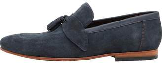 Ted Baker Mens Grafit Suede Shoes Dark Blue