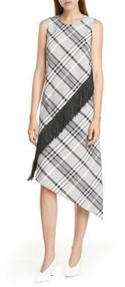 HUGO Kitoni Asymmetrical Plaid Dress