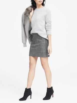 Banana Republic Plaid Side-Stripe Mini Skirt