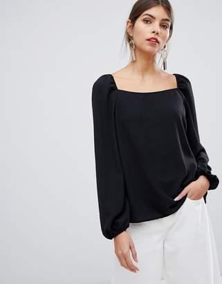 Vila square neck blouse