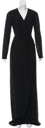 Diane von Furstenberg Embellished Evening Wrap Dress w/ Tags