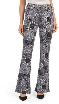 Bootcut Floral Soga Pants