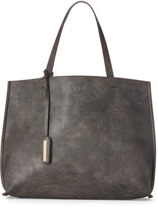 Street Level Pewter & Nude Reversible Tote