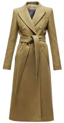 Altuzarra Bailey Double Breasted Wool Blend Coat - Womens - Dark Green