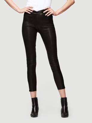Frame Overlap Waist Leather Pull On