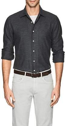 P. Johnson Men's Birdseye-Weave Cotton Flannel Shirt