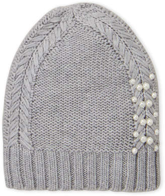 e1a7092448e Badgley Mischka Cable Knit Slouchy Hat