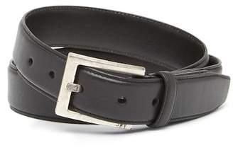 John Varvatos Collection Leather Dress Buckle Belt