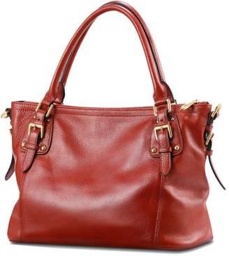 Kattee Vintage Genuine Soft Leather Tote Shoulder Bag