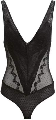 Jonathan Simkhai Night Night By Black Lace Bodysuit