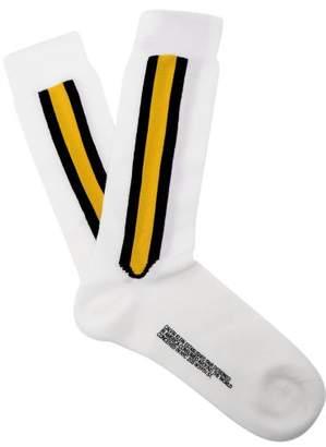 Calvin Klein Striped Wool Blend Socks - Mens - White