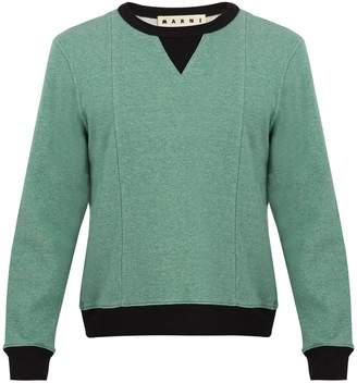 Marni Contrast-trim cotton-jersey sweatshirt
