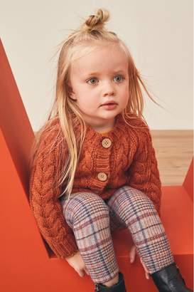 Next Girls Rust Cable Cardigan (3mths-7yrs) - Orange