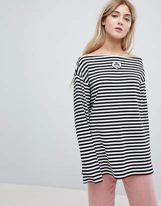 Lazy Oaf X Betty Boop Long Sleeve T-Shirt In Stripe