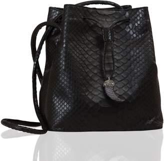 """Seda Cek Italian Leather Bucket Bag """"Python"""""""