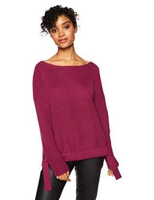 Cable Stitch Women's Drawstring Hem Sweater