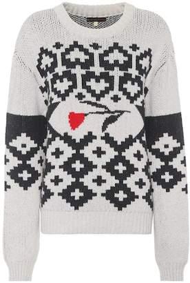 ALEXACHUNG Rose cotton sweater