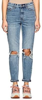 Ksubi Women's Slim Pin Distressed Jeans