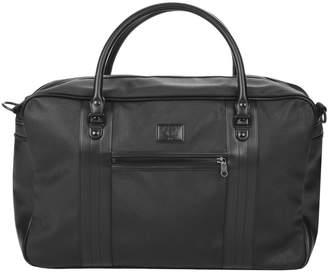 Fred Perry Saffiano Overnight Bag Black