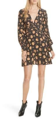 Veronica Beard Marion Floral Silk Dress