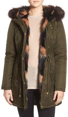 Betsey Johnson Faux Fur Trim Parka $180 thestylecure.com