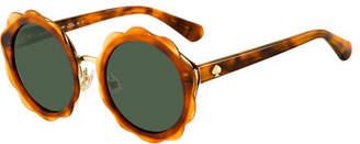 Kate Spade Karries Round Flower Sunglasses
