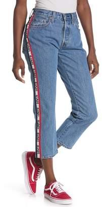 4a917817 Levi's 201 Side Stripe Straight Leg Jeans