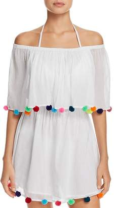 Pitusa Pom-Pom Festival Dress Swim Cover-Up