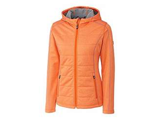 Cutter & Buck Women's Weathertec Jersey Bonded Fleece Altitude Quilted Hood Jacket