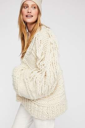 Loopy Mango Fringe Sweater Jacket